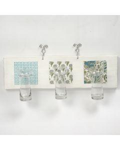 Trelister med små hyacintglass