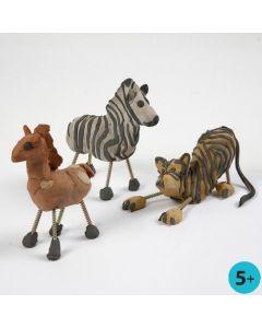 Ville dyr av selvherdende leire og skruer