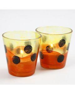 Lysglass med glassmaling