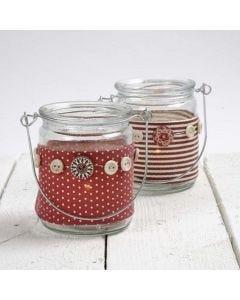 Lysglass med belte av stoff fra Vivi Gade Design
