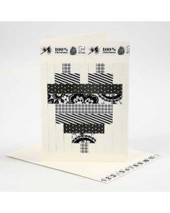 Dobbelt kort med flettemotiv av papir fra Vivi Gade Design