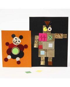 Bilde av pappmosaikk på kartong fra Color Bar
