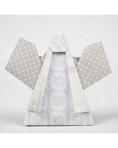 Brettet engel av designpapir fra Vivi Gade
