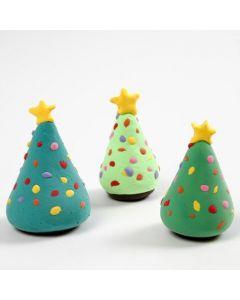 Juletre med juletrepynt av Silk Clay