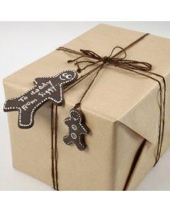 Kakemann av Silk Clay som gavelapp
