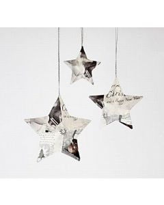 Stjerner med serviettdecoupage