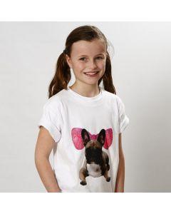 T-Shirt med transfertrykk og grafikk tegnet med tusj