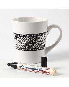 Doodling på porselenskrus