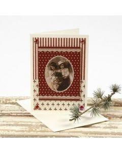 Julekort med motiv på designpapir fra Vivi Gade