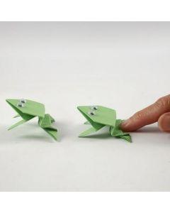 Papirbrettet frosk med rulleøyne