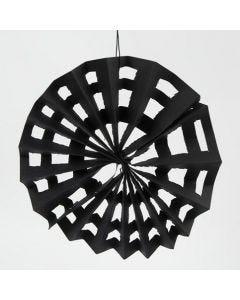 Edderkoppnett av svart karduspapir