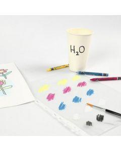 Fargepalett med Neocolor II på plastlomme