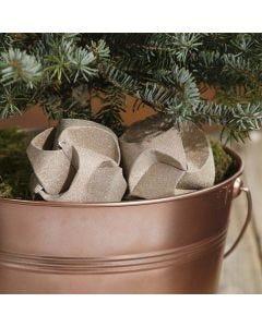 Click Ornament kledd med glitrende designpapir i kobber