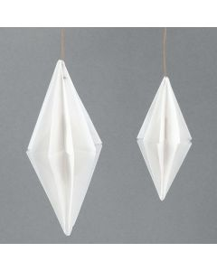 Papirdiamant av vellum origamipapir fra Vivi Gade Design