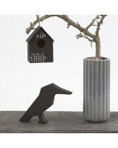 Fuglehus med tavlemaling til fri dekorasjon med kritt