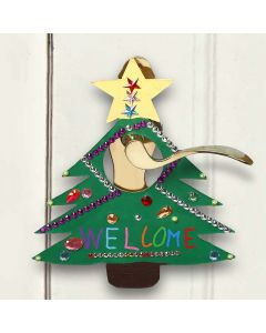 Malt og dekorert skilt til jul