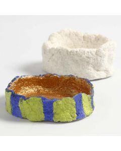 Liten skål formet av pulp
