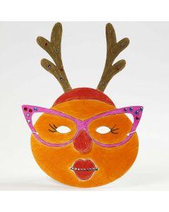 Malt og pyntet maske til jul
