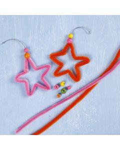 Stjerne av fargede piperensere