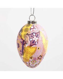 Egg med mønstrete decoupagepapir i pink harmoni