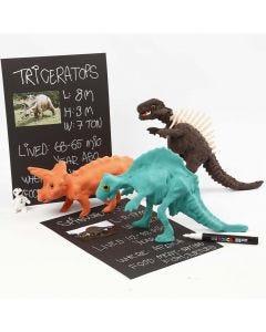 Skjelett av dinosaur kledd med Silk Clay