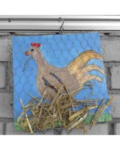 Bilde av høne på rede