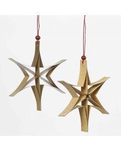 Stjerne av smale papirstrimler