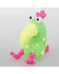 Modellert papegøye av Foam Clay og Silk Clay