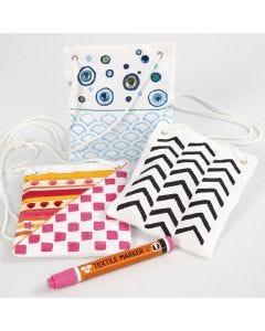 Tekstildekorasjon på lommebok