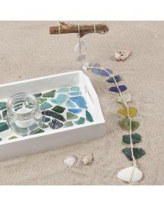 Malt fat med glassmosaikk