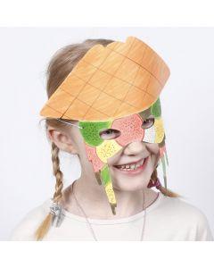 Tusjmalt maske av kartong