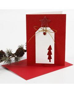 Glittrende kort med manillamerke i dekorativ metallclips