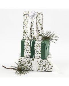 Gaveinnpakning med silkepapir og papir i design fra Vivi Gade