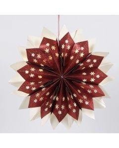 Stjerne av glitrende papirsposer med skjult LED lyskjede