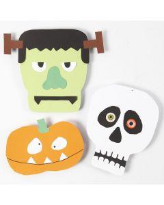 Figurer av kartong til Halloween