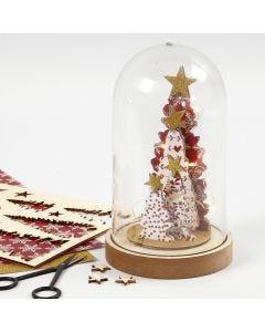Pyntet Juleklokke med sett-sammen-selv trefigurer