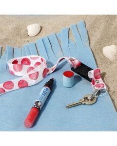 Nøkkelsnor dekorert med stempeltrykk
