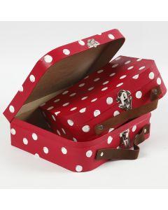 Kofferter av papp malt med hobbymaling