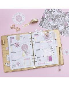 Dekorert 5-ukers plan til Bullet journal og kalender