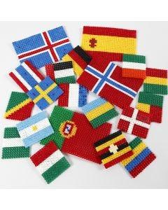 Verdens flagg av rørperler