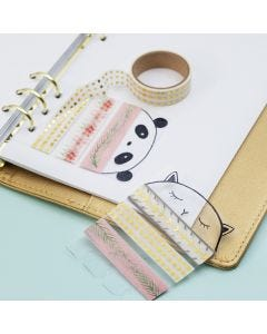 Masking-tape holder av hardfolie til bullet journal