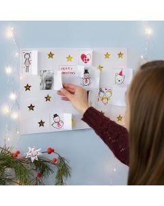 Lag julekalender selv med tegninger, stickers og bilder