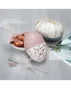 Pappegg dekorert med Plus Color hobbymaling og dekorasjonsfolie