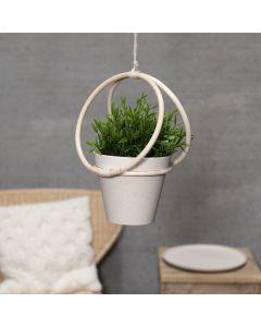 Ampel laget med bambusring