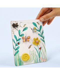 Bilde med naturmotiv dekorert med Silk Clay