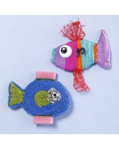 Fisk laget av garn og plastavfall