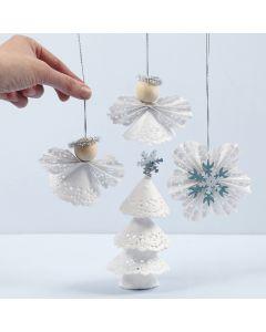Julepynt av kakeservietter
