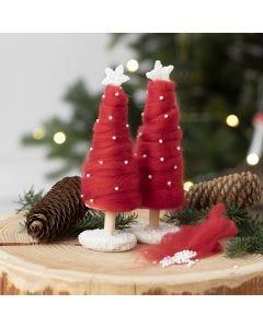 Juletre kledd med XL kjempegarn