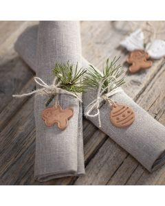 Julefigur av selvherdende leire til pynt og oppheng