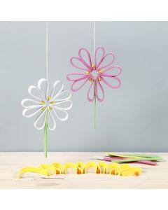 Fargerik blomst av mosgummi
